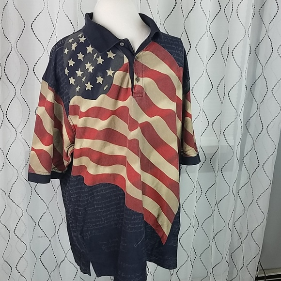 d73c26cf american summer Other - AMERICAN SUMMER polo constitution US FLAG shirt